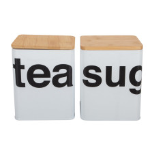 Coffee Tea Set Enamel Storage Canister