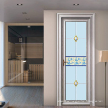 Frosted glass high quality profile toughened glass aluminum door for toilet