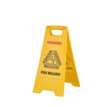yellow plastic customized hotel reflective warning caution sign board