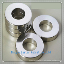 High Quality NdFeB Permanent Ring Magnet with Nickel Plating