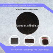 Manufacturing activated carbon polyester filter mat for silica gel cat litter