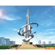 Grande sculpture artistique moderne en acier inoxydable pour décoration extérieure