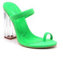 Women′ S Macaroon Block Chunky High Heeled Sandals