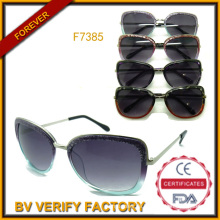 2015 Assurance modische Sonnenbrillen Großhandel Handel in China (F7385)