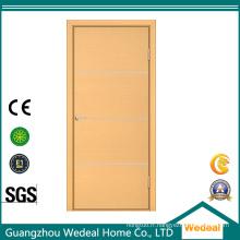 Porte en bois affleurante moderne de noyau solide de flux de MDF / HDF affleurant