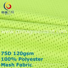 Tissu de maille tricoté par trame de polyester pour des vêtements de sport de textile (GLLML389)