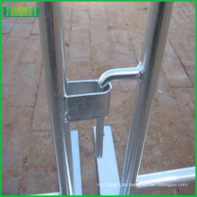 Seguridad, metal, cerca, peatón, tráfico, temporal, control, barrera