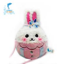 Factory Custom Design Educational Plush Rabbit Toy Bag