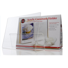 Cookbook Holder Durable Acrylic Stand Splatter Guard