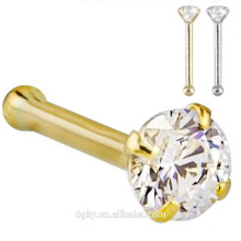 20G anéis de nariz de 0,8 milímetros Stud Silver Gold Bar Piercing Piercing Ear Ear bones