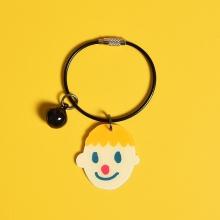 Cute boy and girl plastic key chain