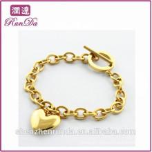 China wholesale 2014 single shape gold bracelet