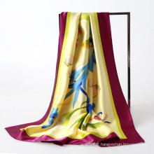 Peinture à la main charmuse soie foulard carré musulman