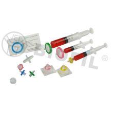 Filtros com seringas de PVDF esterilizados