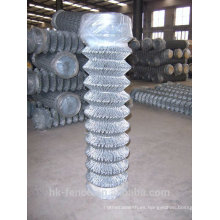 Alambre galvanizado en caliente tejido Diamond Mesh Chainlink Fence