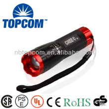 high power zoom focus cree led flashlight