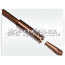 Rigid design taper thread coupler for construction