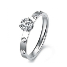 Anillo de plata de la corona de la venta caliente, sistema del anillo de bodas de las mujeres, anillo de la buena suerte