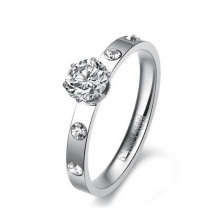 Anneau de couronne d'argent de vente chaude, ensembles de bague de mariage de femmes, anneau de bonne chance