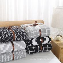 100% Акрил Трикотажные Для Взрослых Сверхразмерные Одеяло Оптовые Зима Новый