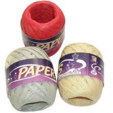 fios de papel, carretéis de fita de papel de rafia, corda de papel