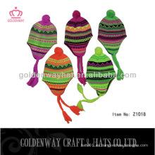 Los sombreros simples del invierno del diseño de la manera hicieron punto los sombreros que nevaban del sombrero de la gorrita tejida