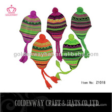 fashion simple design winter hats knitted beanie hat snowing hats