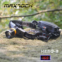 Maxtoch HE5Q-8 Runtime18650 longo Zoom LED farol
