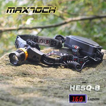 Runtime18650 largo Maxtoch HE5Q-8 Zoom LED proyector