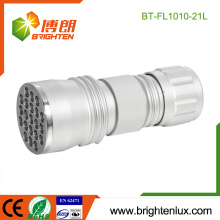 Fabrik Großhandel Best OEM Aluminium Metall Material Handheld Notfall 21 führte Taschenlampe