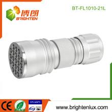 Venta al por mayor de la fábrica El mejor OEM Metal de aluminio Material Handheld Emergency 21 led Pocket Torch