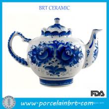 Bule Tradicional Chinês Azul e Branco