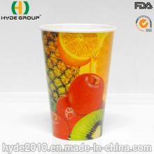 Taza de papel de 12oz para bebidas frías con tapa (12 oz)