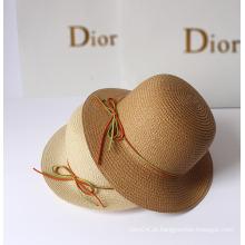 Verão Moda Bowknot Outdoor Sunshade chapéus de palha Dongguan Factory