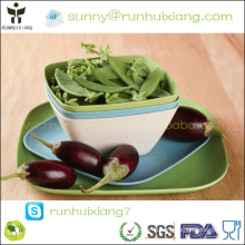 Eco-friendly bamboo fiber kitchen square tray