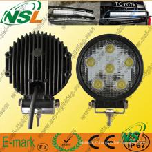 Lampe de travail à LED 6PCS * 3W, lampe de travail à LED Epstar, lampe de travail à LED 1530lm pour camions
