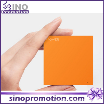 Accessoires de téléphone Dernières Slim Square Custom Battery Power Bank