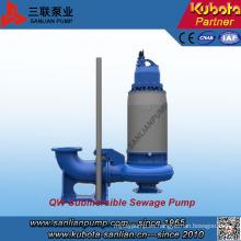 Tratamiento de aguas residuales de tipo QW Bomba sumergible de aguas residuales