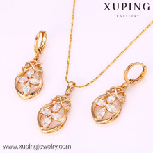 61791-Xuping Jewelry Fashion Gold Plated Jewelry Sets