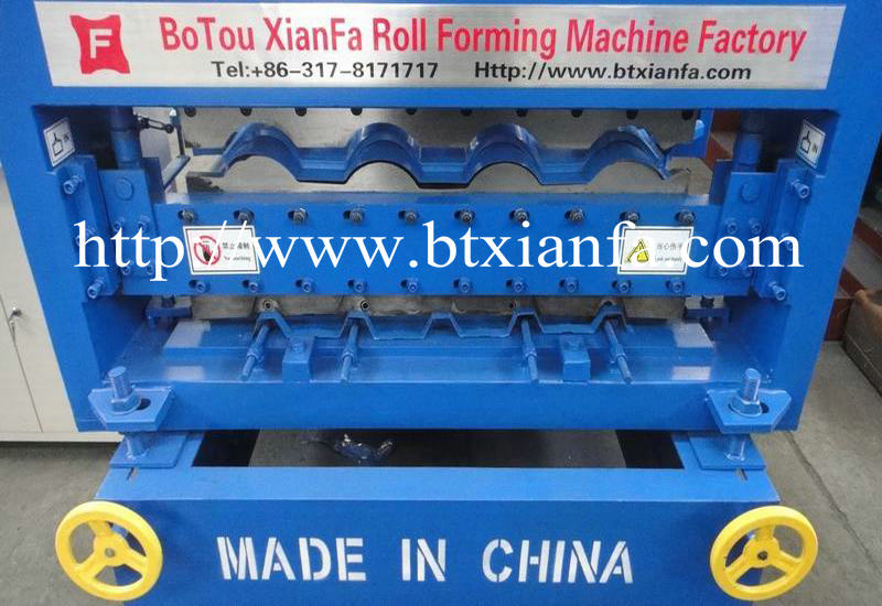 Trapezoidal metal roofing sheets making machine