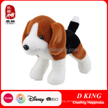 Brinquedo enchido macio do animal do cão de filhote de cachorro do brinquedo do luxuoso do OEM