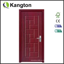 Puerta revestida del PVC del diseño de madera de la calidad superior (puerta revestida del PVC)