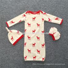 2017 moda barato de alta qualidade de algodão cor sólida, listra infantil bebê sacos de dormir de Natal