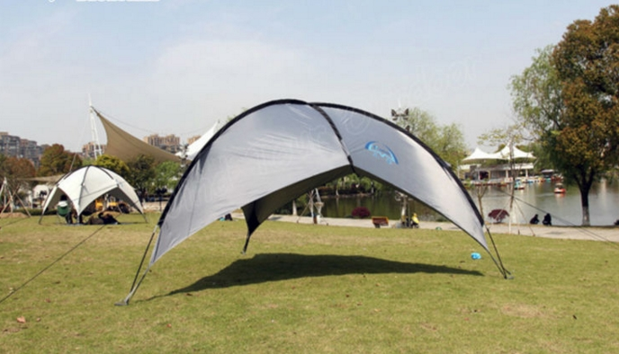 Easy Set Up Camping Gazebo Tent Large Shelter