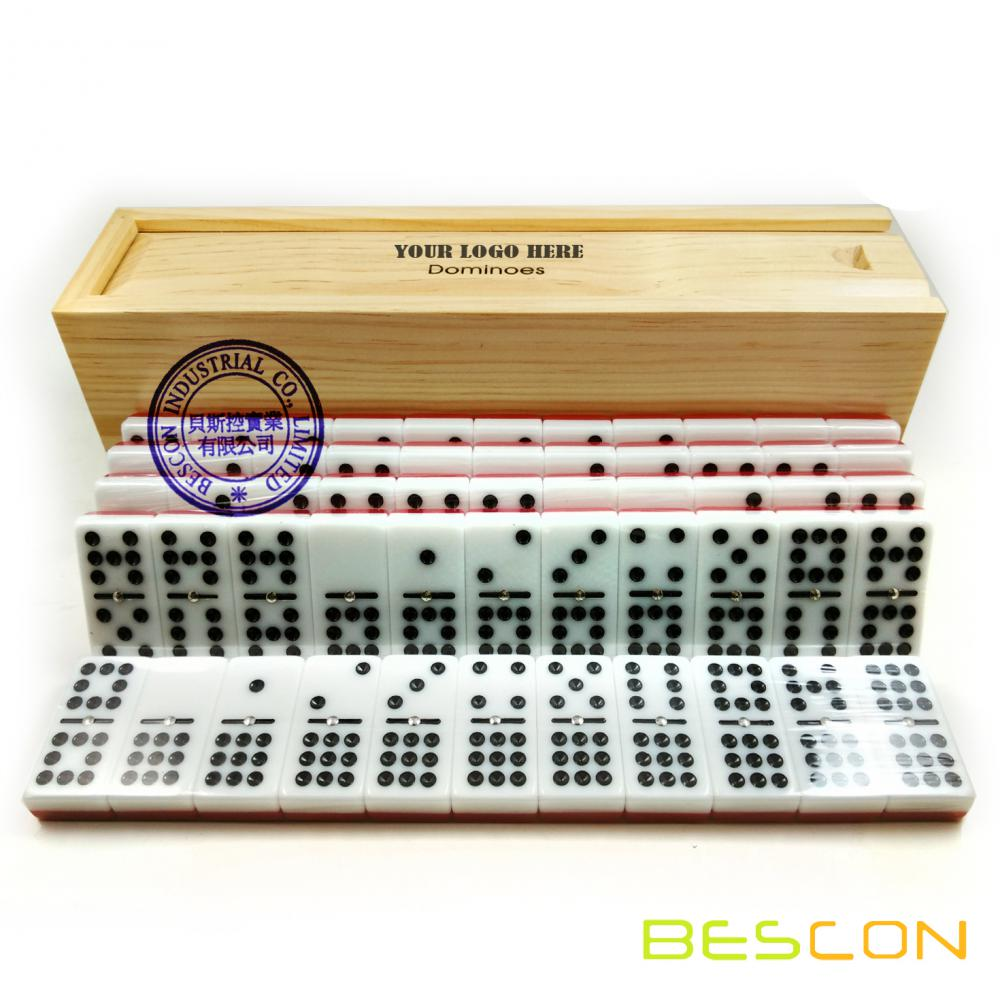 Tournament Two Tone double nine dominoes
