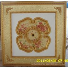 Burgund & Gilt Bracade Dekorative Künstlerische Decke Dl-1114-11