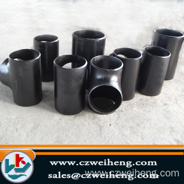 black malleable iron pipe fitting side outlet tee banded equal