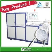 Máquina para producción de conductos flexibles de aluminio