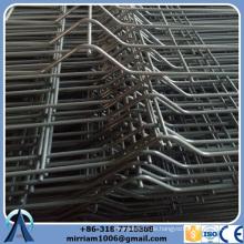 Heißer Verkauf PVC beschichtete 50 * 200 Ineinander greifen-Drahtgeflechtfelder mit Kurven