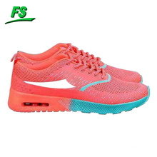 Wholesale flyknit fabric branded women sports shoes